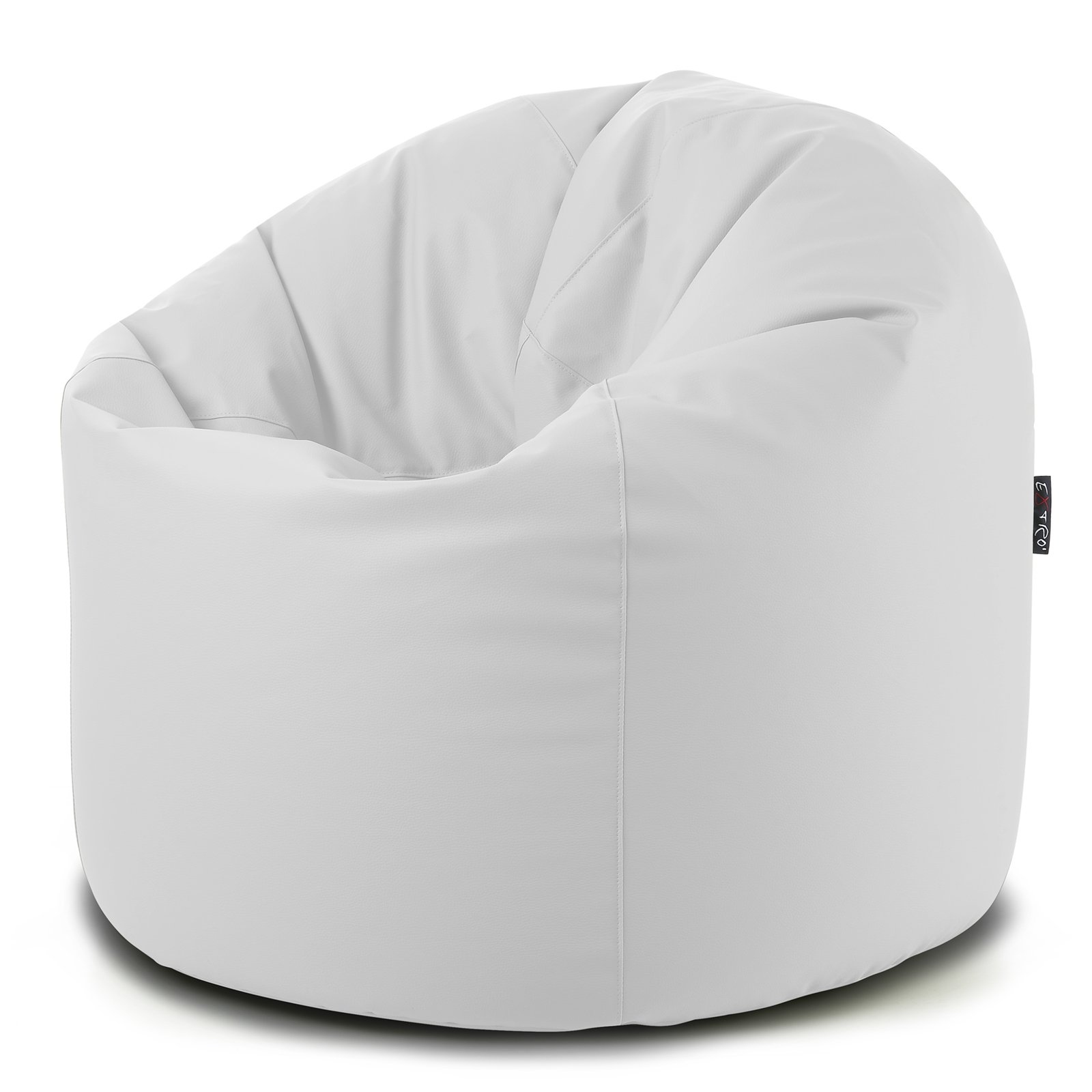 beautiful pouf ecopelle bianco contemporary. Black Bedroom Furniture Sets. Home Design Ideas