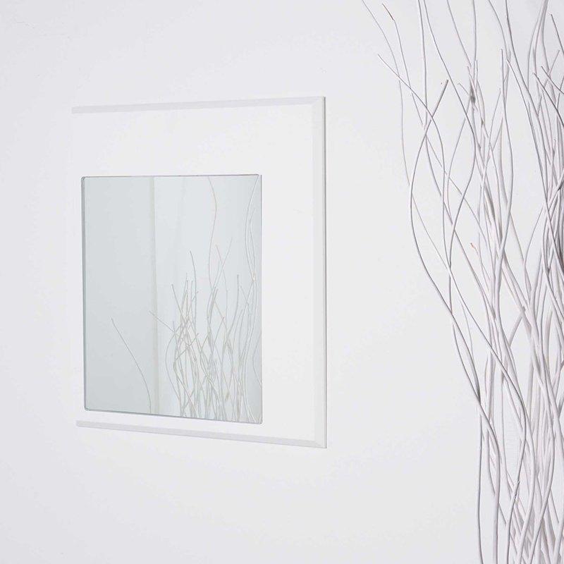 LUI&LEI – specchio quadro bianco