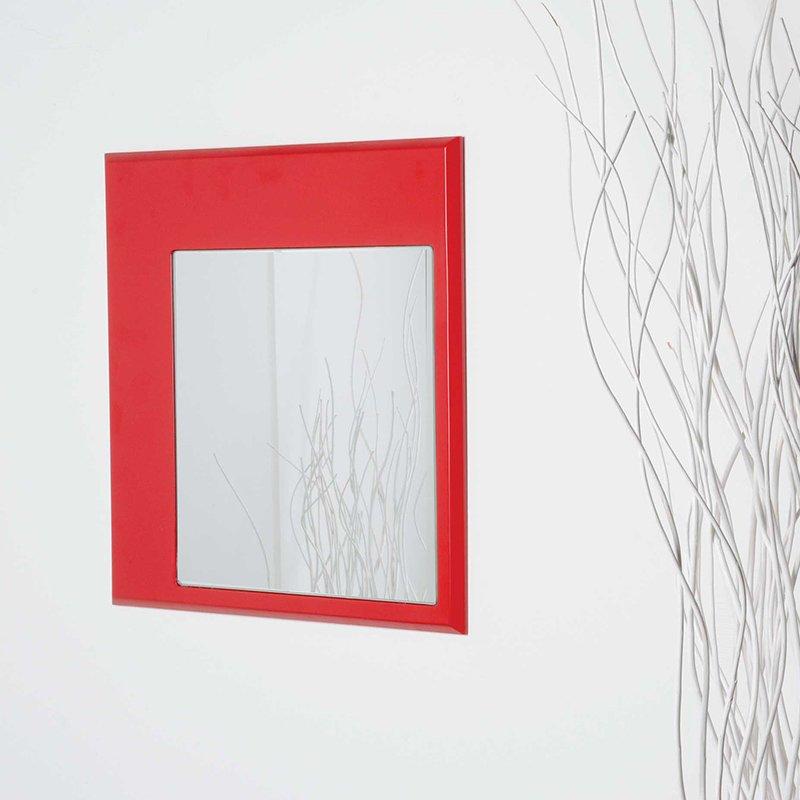 LUI&LEI – specchio quadro rosso