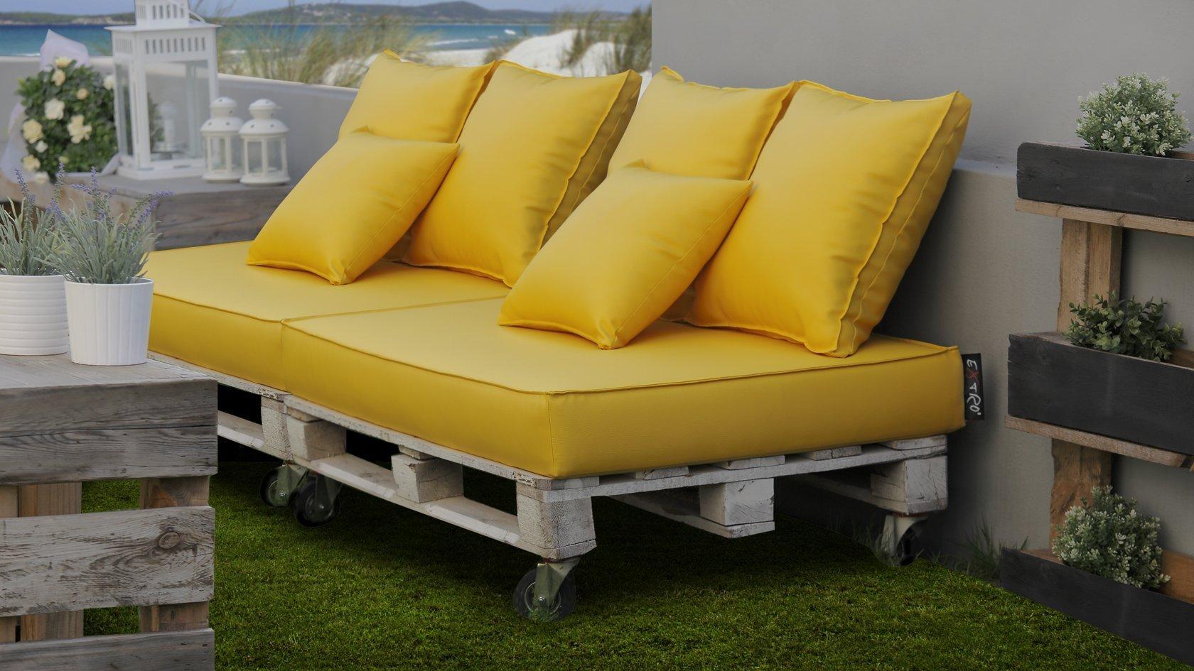 Set bavaro materasso tre cuscini schienale lime extroitaly - Cuscini schienale divano ...
